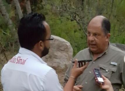Presidente de Costa Rica en Pérez Zeledón